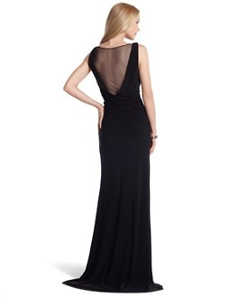Sleeveless Gown with Small Train