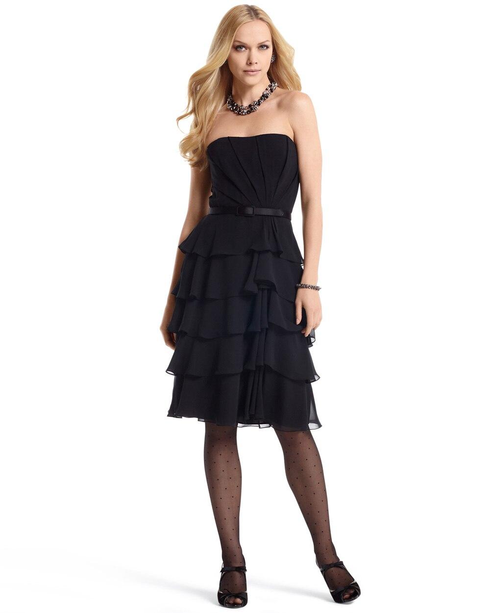 Ruffled Chiffon Dress White House Black Market