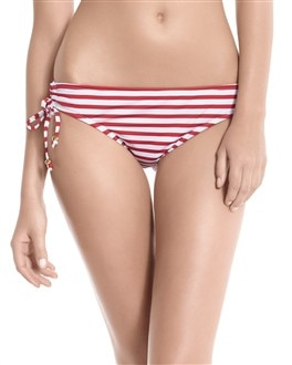 Red Stripe Bikini Bottom