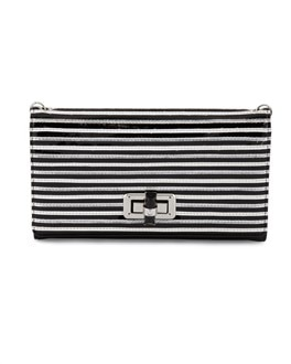 Striped Tri-Fold Clutch