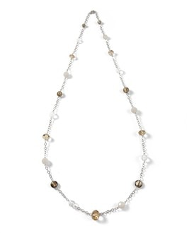 Long Grey/Neutral Necklace