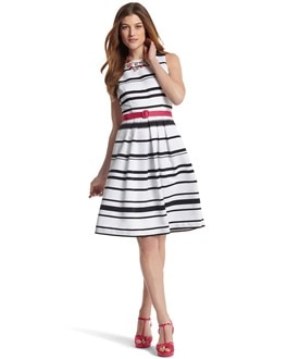 Contrast-Stripe Dress