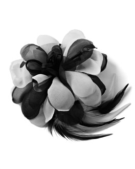 Black/White Flower Pin
