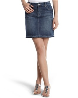 Medium Wash Denim Skirt