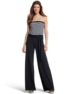 Striped Blouson Jumpsuit