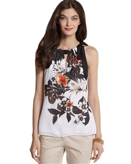 Floral Tie-Neck Top