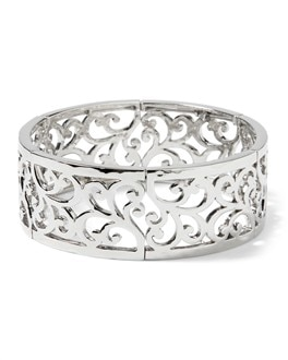 Silvertone Stretch Bangle