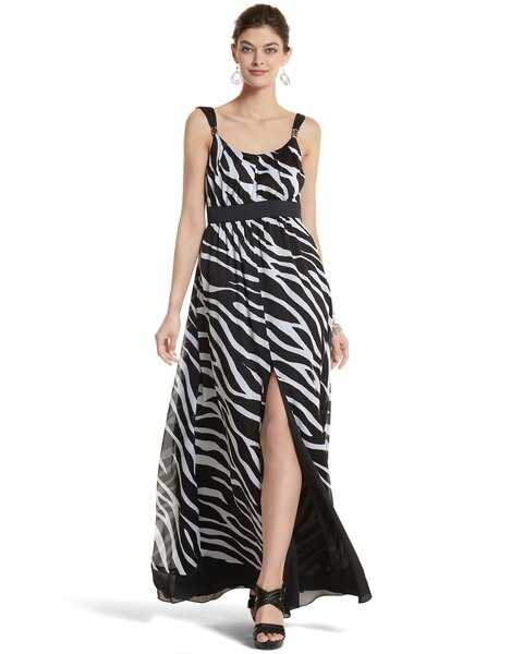 59263c73895 Zebra-Print Maxi Dress - White House Black Market