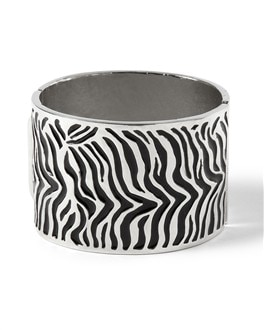 Zebra Hinge Bangle