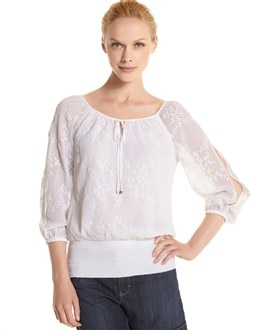 Split Sleeve Peasant Blouse