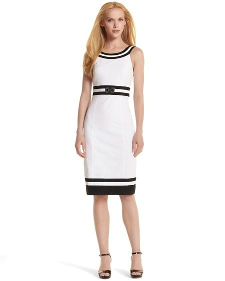 Colorblock Cotton Sheath