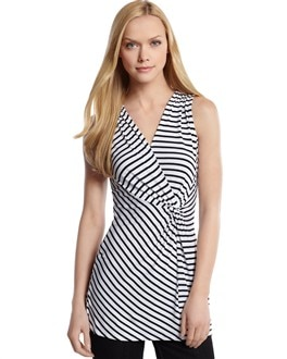 Surplice Striped Tunic