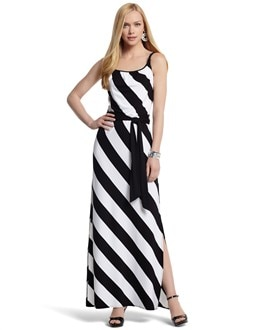 Knit Mixed Stripe Tank Maxi