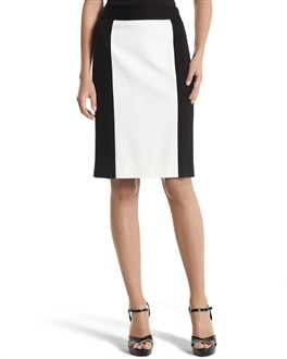 COLORBLOCK PONTE PENCIL SKIRT