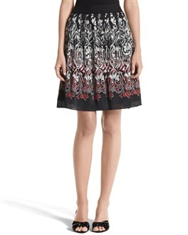 Flirty Charmeuse Print Skirt