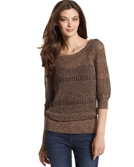Copper Knit Crochet Sweater