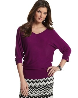 Amethyst Button Back Pullover