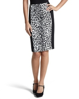 Leopard/Black Stripe Pencil Skirt