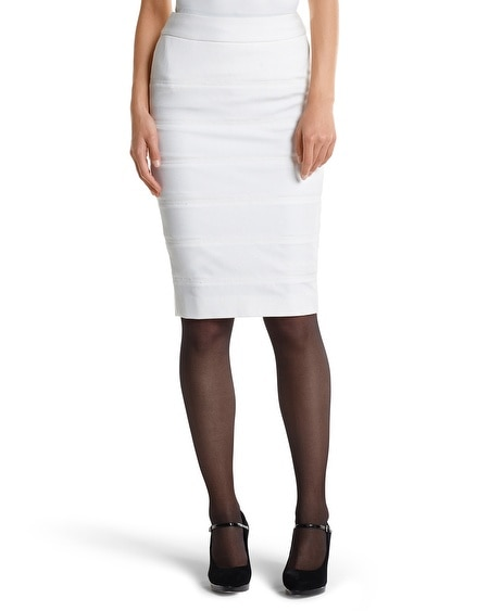 Banded Ponte Pencil Skirt