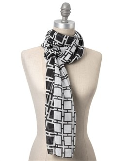 Positive/Negative Graphic Scarf