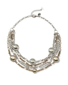 Pave Multi-Row Necklace