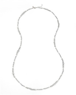 Grey/Glass-Pearl Long Necklace