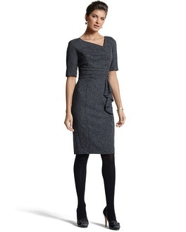 Asymmetric Tweed Sheath