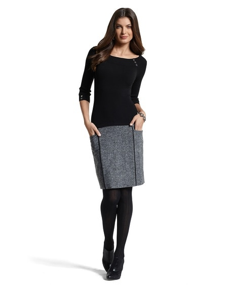 Duotone Sweater/Pencil Dress