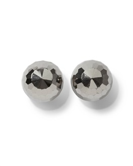 Faceted Steel Grey Stud Earring