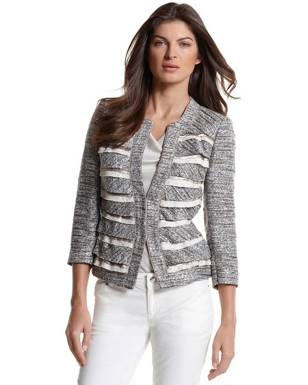Tiered Tweed Jacket