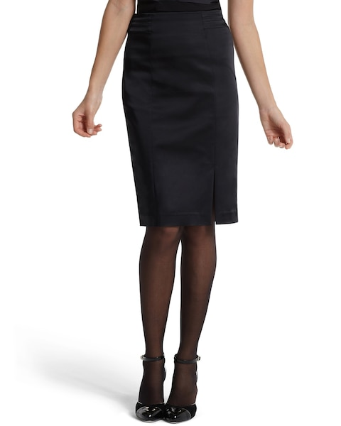 4ff092fa2 Return to thumbnail image selection Black Satin Pencil Skirt video preview  image, click to start video