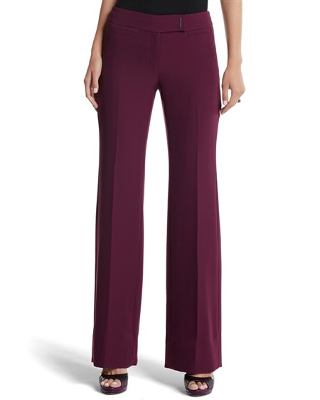 Royal Purple Stretch Crepe Pant