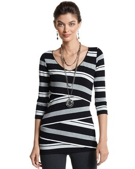 Cross-Tiered Stripe Tunic