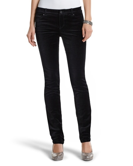 The Mod (Slim) Noir Sparkle Velvet Pant