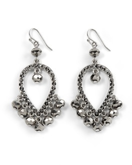 Grey Rondelle Chandelier Earring