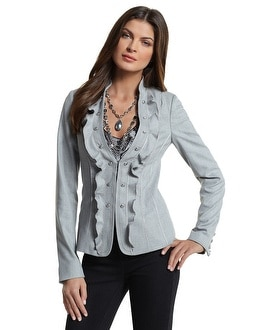 Military Ruffle-Lapel Jacket