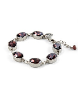 Purple Faceted Bracelet