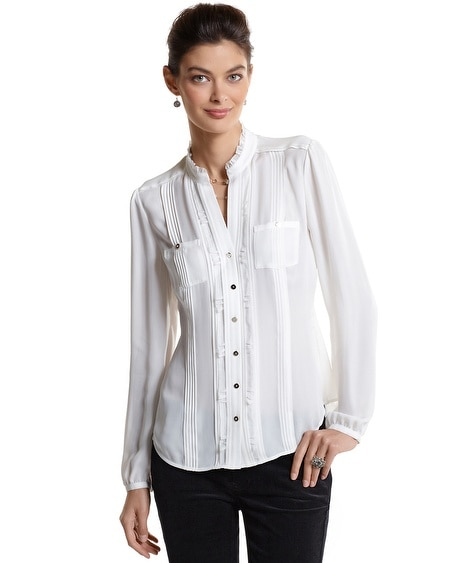 Silk Pintuck Blouse