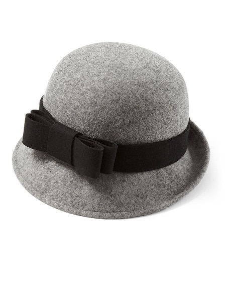 Gray Wool Felt Cloche