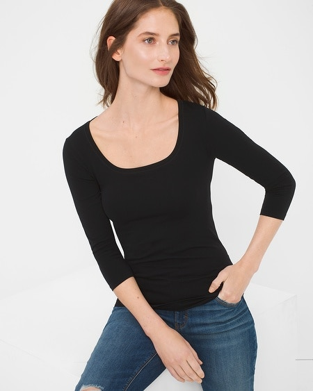 3/4 Sleeve Essential Seamless Tee