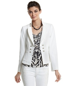 High-Collar Ponte Jacket
