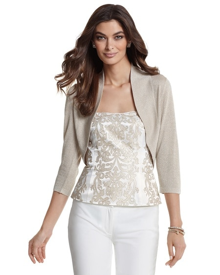 Neutral Shimmer Shrug