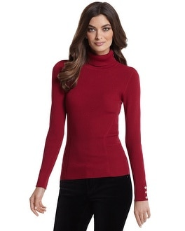 Long Sleeve Red Turtleneck