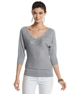 Sequined Dolman Sleeve Sweater
