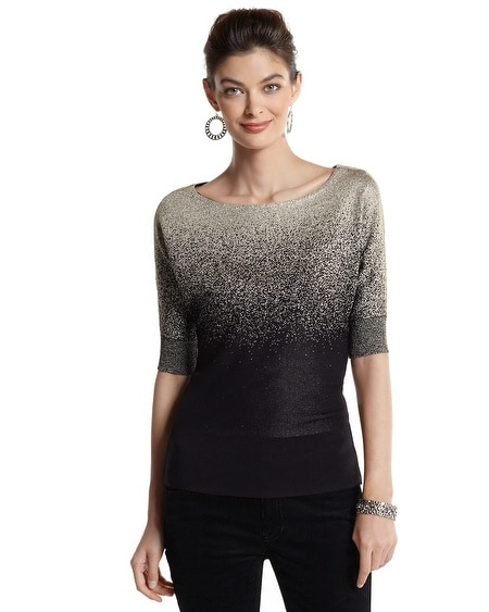 Dolman Sleeve Ombre Sweater