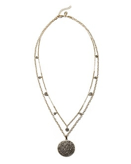 Grey Pave Convertible Pendant Necklace