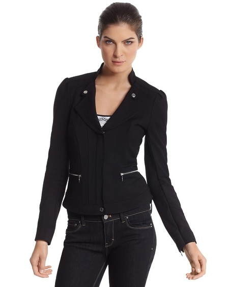 Double Weave Zip-Front Jacket