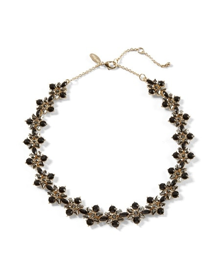 Jet/Hematite Short Necklace