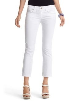 Noir Slim White Rolled Crop