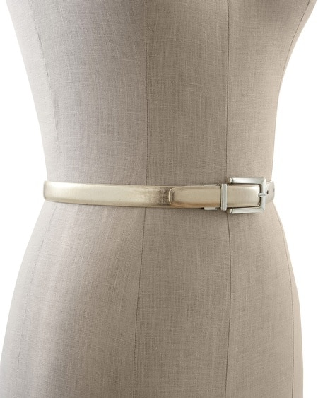 Silver/Gold Reversible Skinny Belt